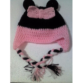 Touca Em Croche Minnie Infantil Ou Bebe Peça Unica a41f87b7bae