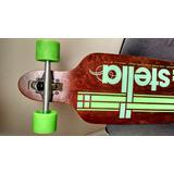Skate Stella Longboard Eixo Invertido Drop Through