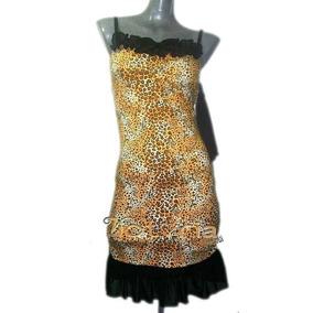 Vestido Leopardo Con Mangas