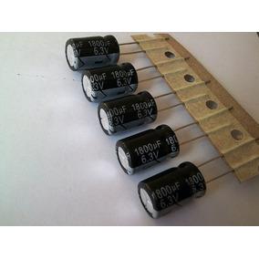 5 Capacitor 1800uf 6,3 Volts 105 Graus