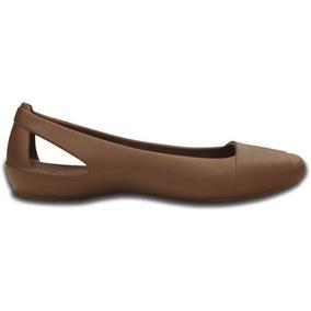 Zapato Crocs Dama Crocs Sienna Flat Café