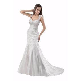 Vestidos de novia corte sirena alquiler