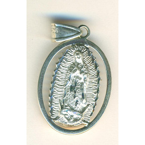 Medalla De La Virgen De Guadalupe Plata 925