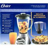 Jgo De Licuadora Oster 16 Velocidades Y Procesador Incluido