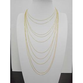 Collares De Plata Italiana 925 Con Baño De Oro