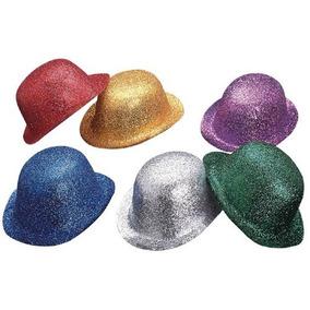 60 Sombreros Diamantado Brillantina Bombin Colores Sombrero 2286d6982dd