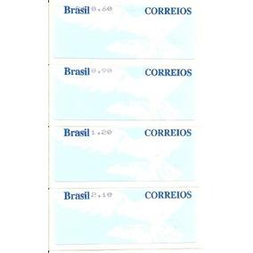 Aves 2007 Pomba Fundo Azul Selo Etiqueta Se-62-65 Série Nova