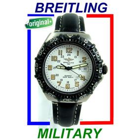 Raro Breiting Colt Sextant Military Em Aço, Revisado.