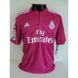 Camisa Real Madrid Away 14-15 James 10 Patch Lfp Importada
