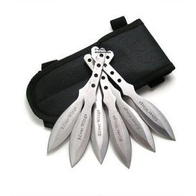 Kunais O Dagas Ninja P/lanzar Artes Marciales 6 Pzas Silver
