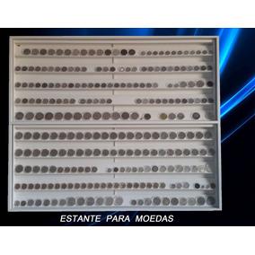 Quadro Porta Moedas Coleção Numismata Expositor 300 Cápsulas