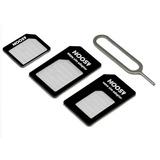Kit Adaptador Sim Gsm Micro Sim Y Nano Sim A Sim Iphone