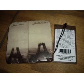 Porta Copos Em Resina Construção Torre Eiffel 9,5x9,5cm 01un