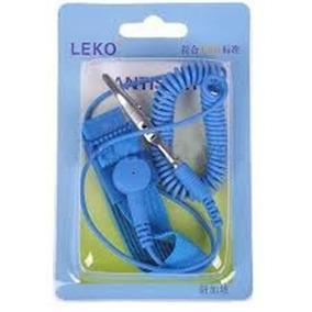 Pulseira Proteção Anti Estática Profissional 1,6m - Azul