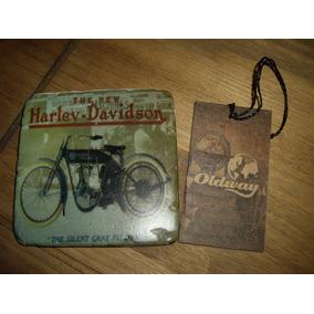 Porta Copos Em Resina Harley Davidson Oldway 9,5x9,5cm 01un