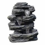 Fuente De Agua De Roca Con Cascada 0504