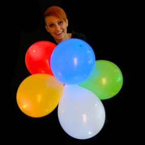 10 Globos Luminosos Led Varios Colores Fiesta Helio Boda Neo