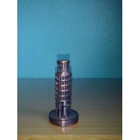 Apontador Metal Acobreado Torre De Pisa 7 X 5cm Aprox.