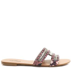 Rasteira Zariff Shoes Pedras 73038 | Zariff
