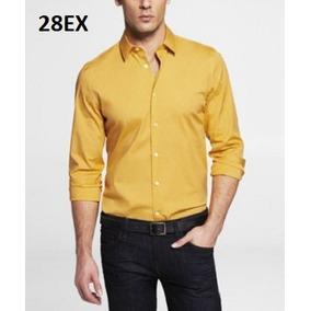 S, M - Camisa Express Amarilla C28ex Ropa Hombre Original