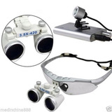 Óculos Lupa Cirúrgica Com Led Medico Dentista 3.5x420