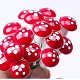 15 Cogumelos Miniaturas Terrários Mini Jardim Fada Suculenta