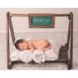Cama Balanço Mini Lousa Prop Newborn Acompanhamento Bebê