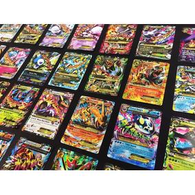Mega Lote Pokemon - 100 Cartas + 4 Cartas Ex + 8 Brilhantes
