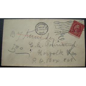 Envelope Usa, Selo Two Cents Ano 1927, Circulado, Hagerstown