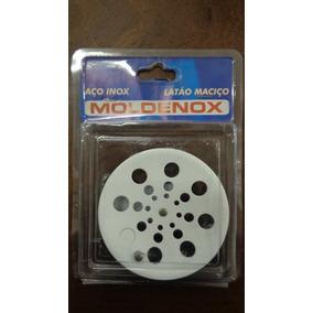 Grelha Rotativa Redonda 10 Cm S/ Caixilho Branca Moldenox