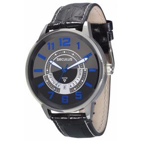 Relógio Seculus 2 Anos Garantia Calendário 28417g0svnc1