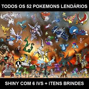 Pacote Pokemon X Y Or As Sun Moon - 54 Lendários + Itens