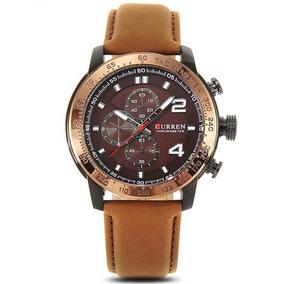 5f74da7b660 Relogio Curren Couro Dourado - Relógios no Mercado Livre Brasil