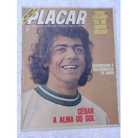 Placar Nº 163: Poster Coríntians - Tostão - Palmeiras - 1973