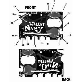 Cartao Multi Ferramentas Use Carteira 18 Em 1 Ninja Wallet