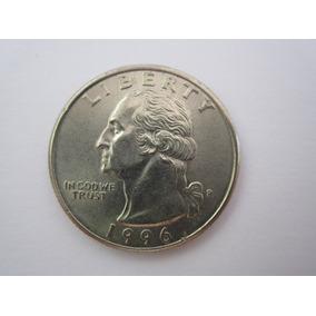 Usa Moeda Quarter Dollar 1996