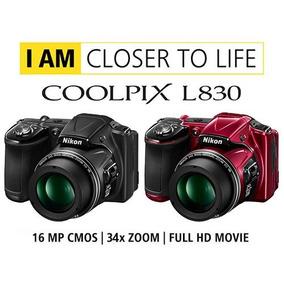 Camara Digital Nikon Coolpix L830 16 Mp 34x Zoom Full Hd