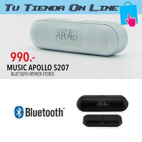 Corneta Portatil Apollo Led Stereo Wireless Bluetooth Mp3