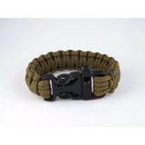 Bracelete Pulseira Tático Sobrevivência Paracord 550 C/apito