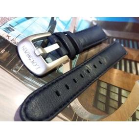 Pulseira Couro P/ Relógios Locman - 19mm - Azul