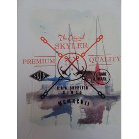 Camiseta Skyler 100% Algodão Oferta Original Masculino 3ee1234d189