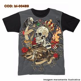 Camiseta Mcd Caveira - Camisetas Manga Curta no Mercado Livre Brasil 3faf126a891