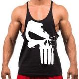 Camiseta Regata Super Cavada P  Musculação Treino Justiceiro 5048a9850ae