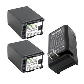 2 Baterias 1 Cargador Pila Canon Bp828 Vixia Xa10 Xa20 Xa25