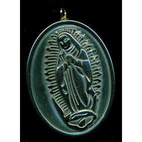 Medalla De La Virgen De Guadalupe De Obsidiana