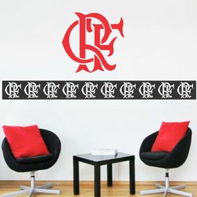 Adesivo Decorativo Flamengo Mengao Faixa Borde + Brasão f274d9c3ec64e