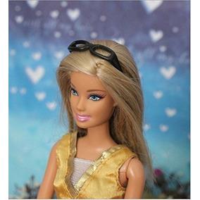 Óculos De Grau De Leitura Preto Da Boneca Barbie