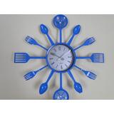 d017eb30924 38cm Azul Concha Talher Colher Cepo Relogio Escumadeira