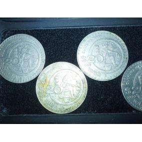 Colección 4 Monedas 20 Pesos Cultura Maya 80 A 84 No Subasta