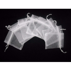 200 Sacos Organza, Saquinhos Brancos 7x11cm P/ Lembrancinhas